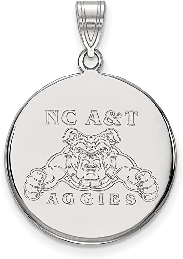 White Sterling Silver Charm Pendant North Carolina NCAA University Of 20 mm 8