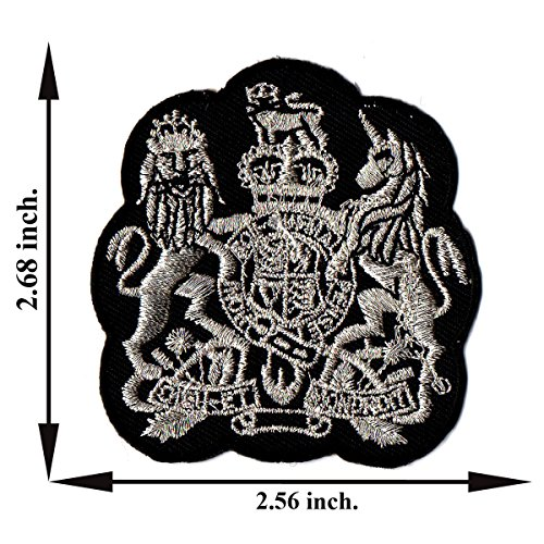 - Silver Lion Unicon Star Embroidered Applique Iron on Patch T-shirt Cap Jeans Bag