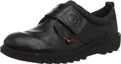 Black Leather Infant School Shoes