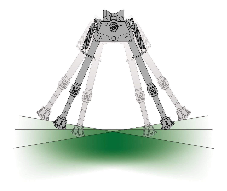 Harris Bipod HB25CS extends from 13 1/2'' to 27'' Swivels (tilts)