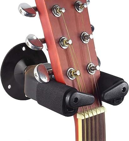 1x Gitarrenwandhalter Gitarren Haken Wandhalter Wand Halterung Ständer Schwarz