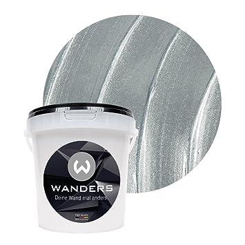 Wanders24 Metall Optik 1 Liter Silber Effektfarbe Wandfarbe
