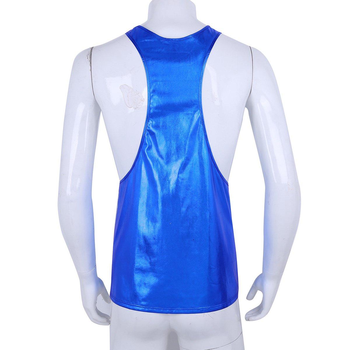 873e6f966339 iiniim Herren Tank Top Shirt Wetlook Muskelshirt Ärmellos Unterhemd  Achselhemd Party Clubwear M-XL  Amazon.de  Bekleidung
