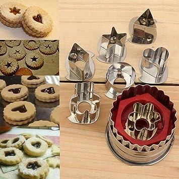 Cookie Tools - Molde de acero inoxidable para galletas, 7 ...