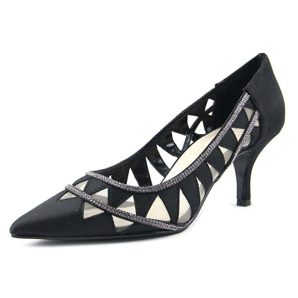 Caparros Womens Fabulous Embellished Pointed Toe Dress Heels B01HR8J3BY 7 B(M) US|Black Satin