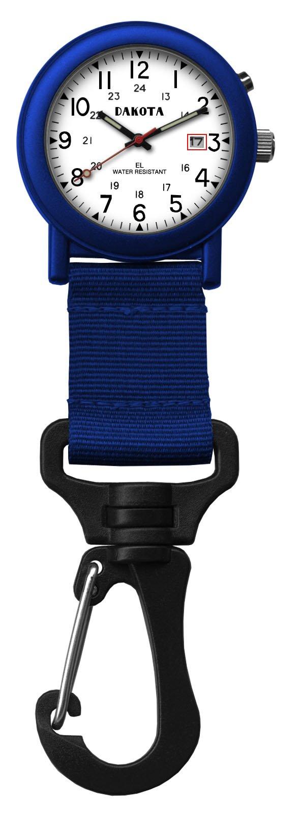 Dakota Light Backpacker Clip Watch w/Dial Light - Blue