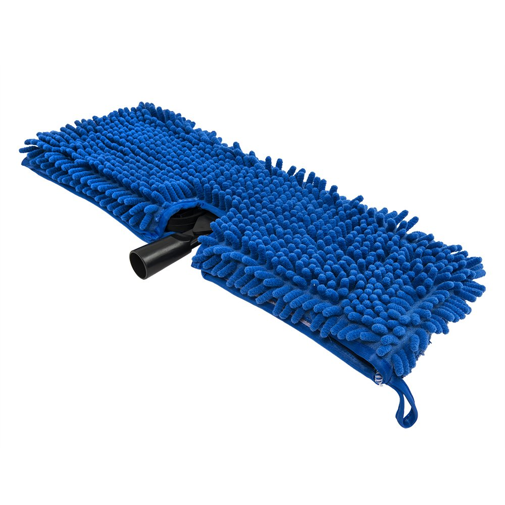 Chemical Guys ACC501 Chenille Wash Mop (Blue with Plastic Head Attachment for Trucks, RVs, Boats and Hard to Reach Areas)