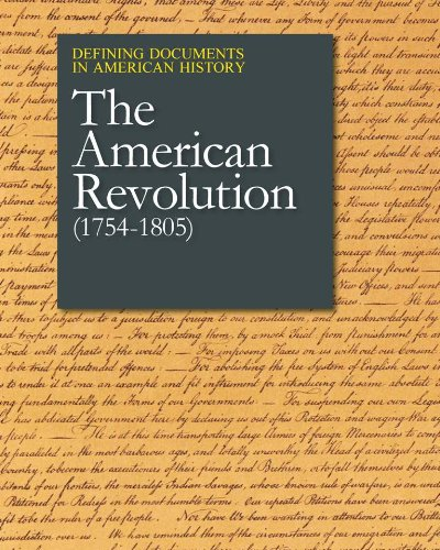 The American Revolution (1754-1805) (Defining Documents in American History) Peter Kratzke