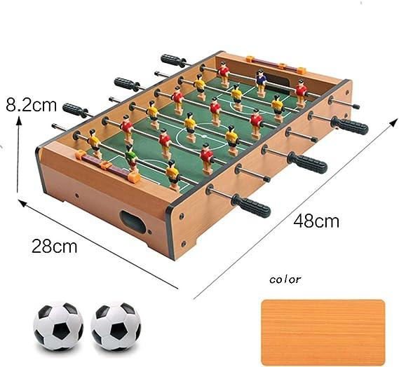 BXWQPP Futbolín Juego de Mesa de Madera Baby Foot Infantil para Niños Fútbolista Deporte Patada de Mesa Mesa de Fútbol Futbolín de Sobremesa: Amazon.es: Hogar