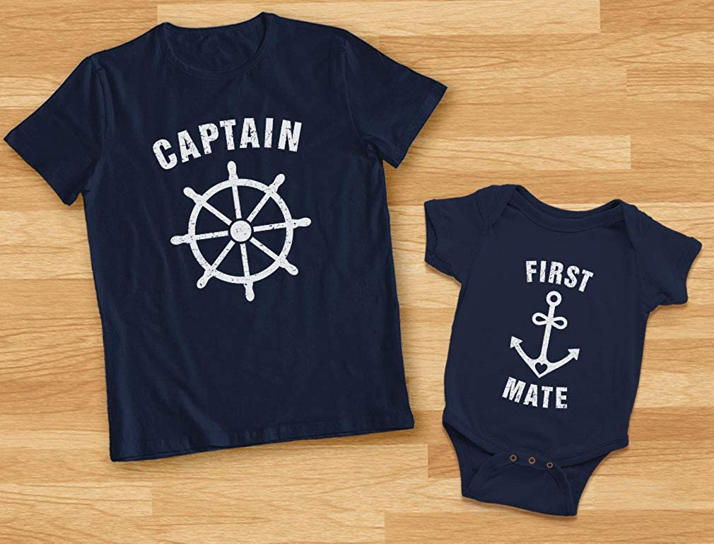 Keep Calm Im The First Mate Infant Baby Romper