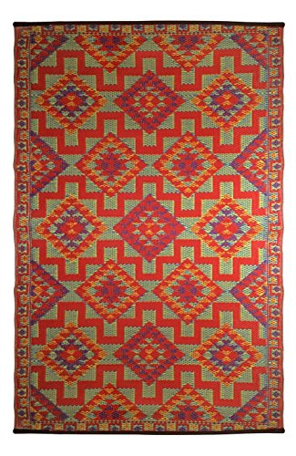 Indoor Outdoor Rug In Blue Amazon