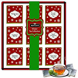 The Boston Tea Company Premium Teas Variety Sampler Pack for Black & Rooibos 6 of Each Flavor 9 Varieties (54-Count)