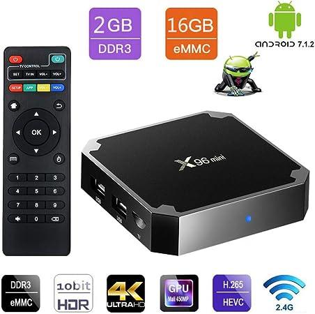 YPSMLYY La última Caja De TV De Red Android 7.1 X96 Mini TV Box. (2 GB