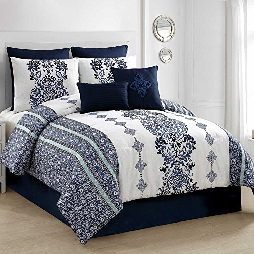 VCNY Twilight 8-Piece King Comforter Set in Blue (Twilight Comforter)
