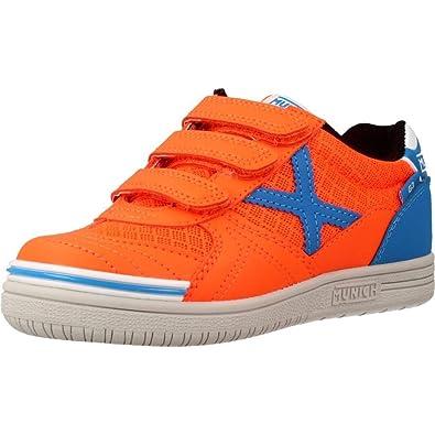 Munich Sport G-3 Indoor VCO - Zapatillas Niño Naranja Talla 28: Amazon.es: Zapatos y complementos