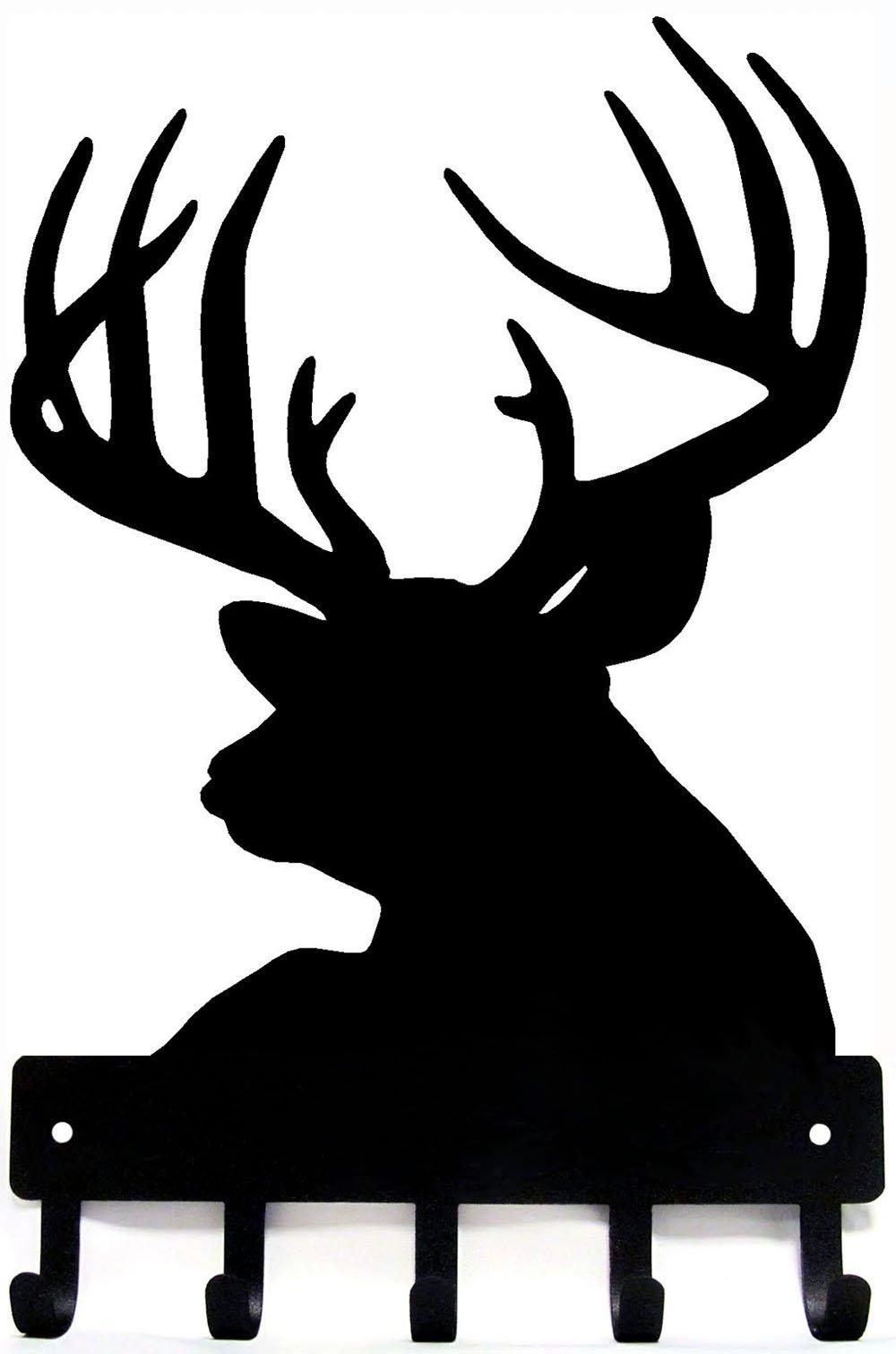 The Metal Peddler Buck Head Deer Key Rack Hanger - Small 6 inch Wide by The Metal Peddler (Image #1)