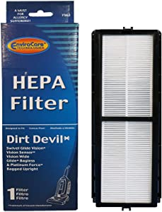 EnviroCare Dirt Devil Vision HEPA Filter for Swivel Glide, Vision and Platinum Force Vacuums