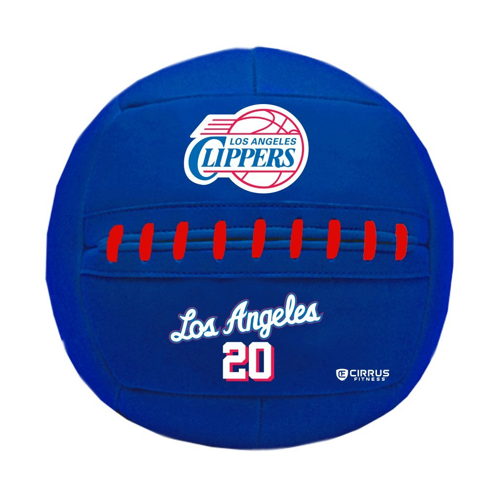 Simply Belle Fitness Medicine Ball, NBA Los Angeles Clippers, 10 lb by Simply Belle Fitness