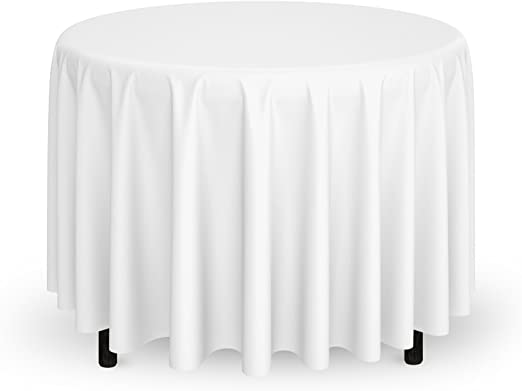 """WHITE 15 Pack of 132/"""" Round High Quality Tablecloths"""