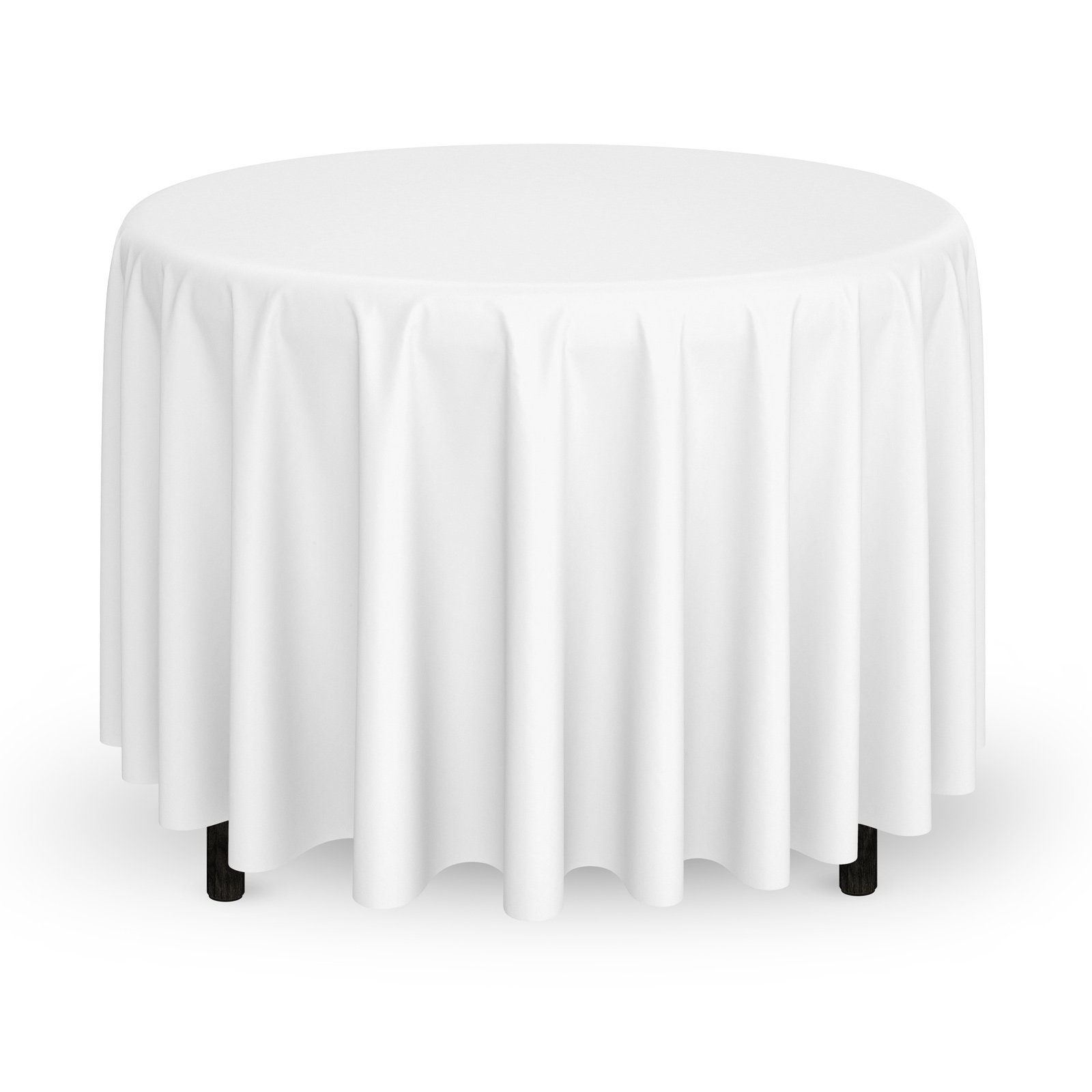 Mill & Thread - 20 Premium 132'' Round Tablecloths for Wedding/Banquet/Restaurant - Polyester Fabric Table Cloths - White