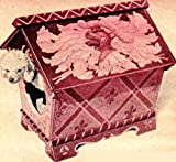 Woodworking Plan Pattern to make - Build Fancy Dog House Pet Cat. NOT a finished item. This is a pattern and/or instructions to make the item only.