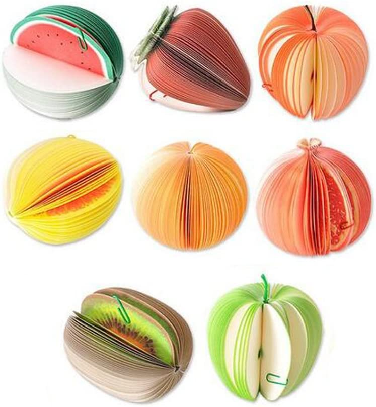 8 Styles 3D Mini Creative Fruit Shape Memo Pad Portable Paper Notes Notepads