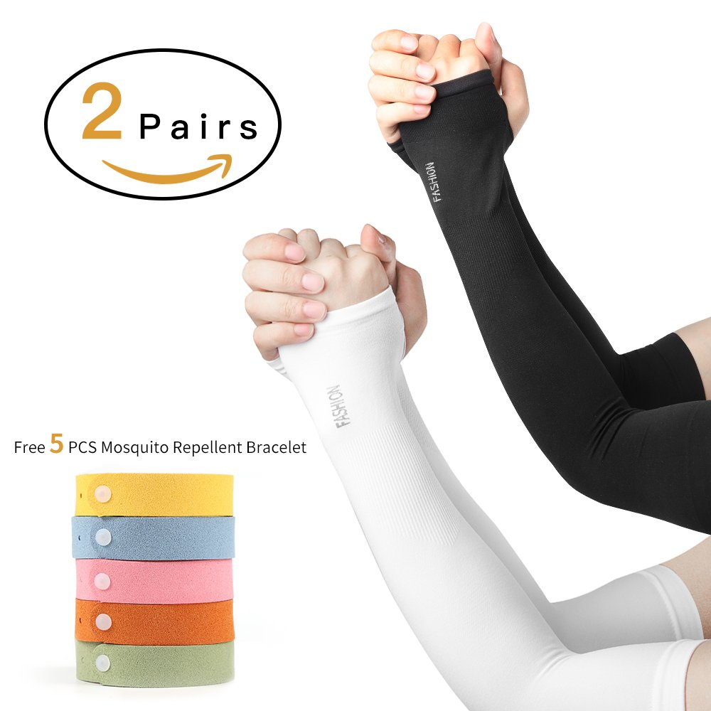Running Spirited 1 Pcs Breathable Basketball Cycling Arm Warmers Uv Protection Outdoor Running Elbow Pad Fitness Compression Armguard Beautiful In Colour