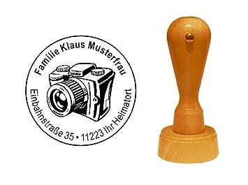 Stempelwelt24 de señal de madera de alemán con de sello con ...