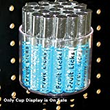 Count of 10 New Retail Clear Cup Display for Pegboard 4†Dia. and 3.5†H