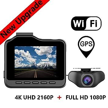 RWXING Dash CAM WiFi GPS 4K Ultra HD 3840X2160P Delantera ...