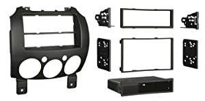 Metra 99-7518B Single/Double DIN Dash Installation Kit for 2007-Up Mazda 2 Vehicles, Black
