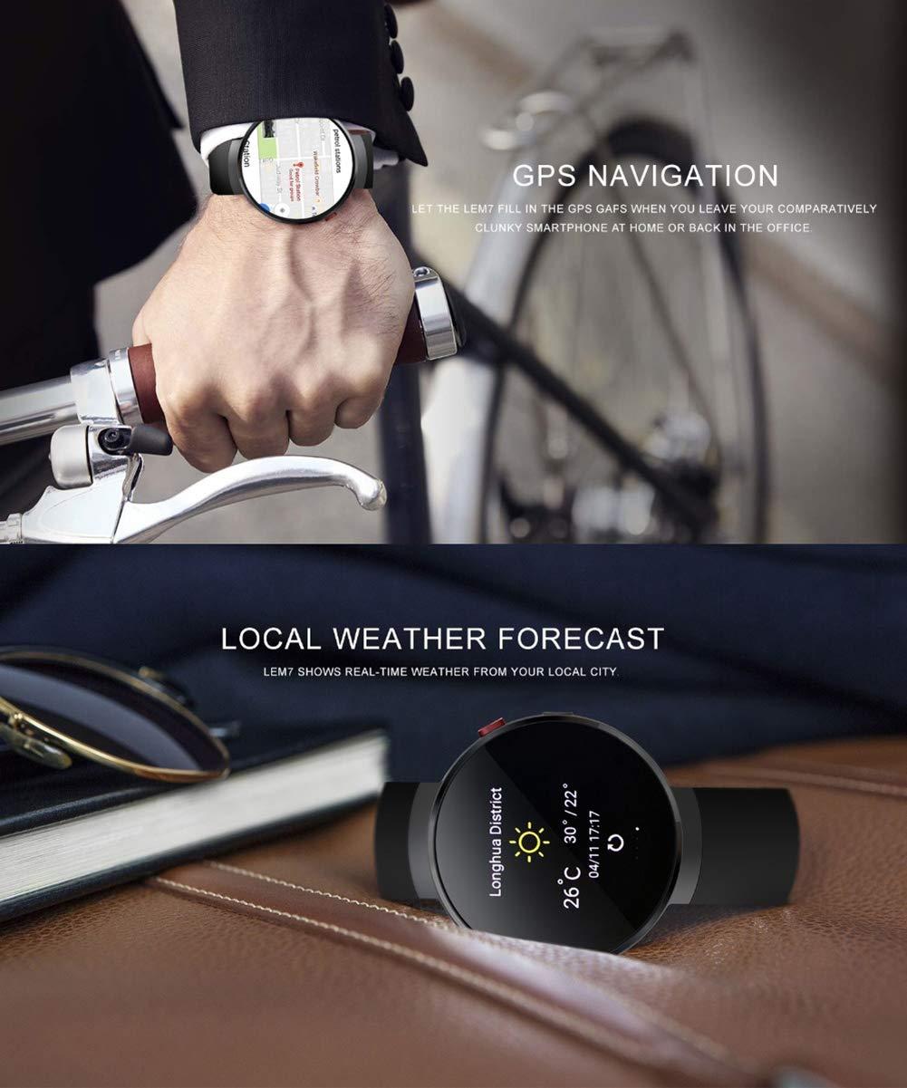 LEM7 Reloj Inteligente Android 7.0 Smartwatch LTE 4G Teléfono ...