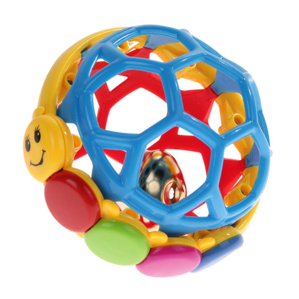 GreenSun TM ソフト教育用赤ちゃん用ガラガラ玩具 楽しいリトル大音量ジングルボール 知能トレーニング用 赤ちゃん用握りやすさおもちゃ   B07DP7DXHC