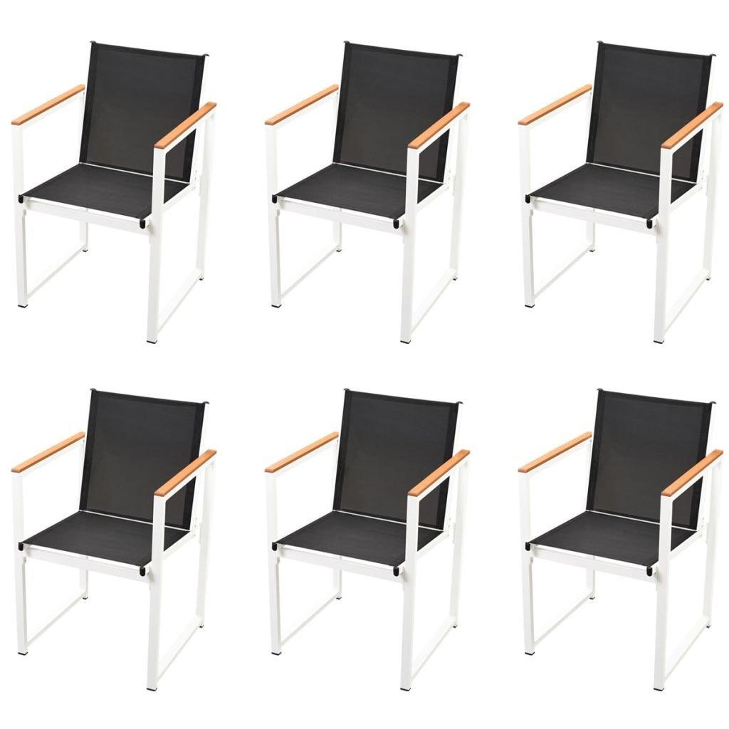 Festnight 5 pcs Salon de Jardin Aluminium WPC Mobilier dextérieur 1 ...