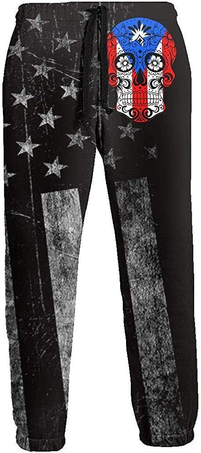 Emild Puerto Rico Sugar Skull Men Joggers Pants Pantalones de ...