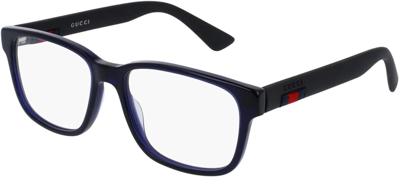 Gucci GG0011O-008 Estuches para anteojos, AZUL, 55.0 para Hombre: Amazon.es: Ropa y accesorios