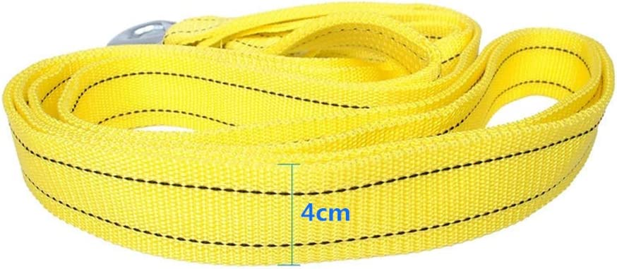 Everrich 5 Tons Tow Strap with Hooks Heavy Duty-for Car Truck Jeep ATV SUV Rescue Stuck Or Disabled Vehicles