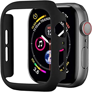 BOTOMALL Compatible Apple Watch Series 6/SE/5/4 40mm [NO Screen Protector] Hard Cover Accessories Slim Guard Thin Lightweight Protective Bumper for iWatch(Black,44MM Series 6/5/4/SE)
