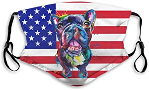 QI82O@W Supernatural, English Bulldog Dust Face Protections, Unisex Adjustable Windproof Face Cover Reusable for Outdoors,Sports