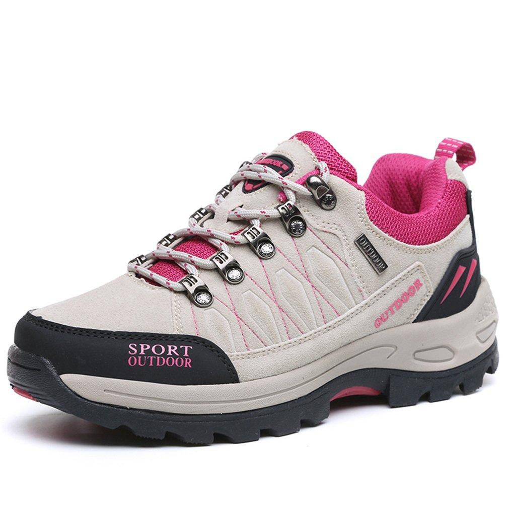 Rock Climbing Shoes Unisex Hiking Shoes Men Women Walking Sneaker Skid Proof Waterproof for Ourdoor Use-Grey-37 EU