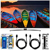 LG 60UH7700 60-Inch Super UHD 4K Smart TV w/ webOS 3.0 Accessory Bundle includes TV, Screen Cleaning Kit, Power Strip with Dual USB Ports and 2 HDMI Cables