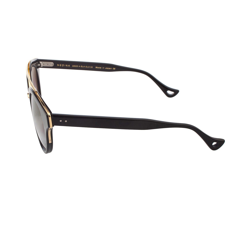 114fdd1dcb3 Amazon.com  Dita Medina 22023A Shiny Black 18K Gold Fashion Sunglasses  52mm  DITA  Clothing