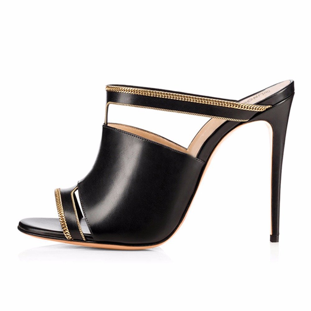Exing Zapatos de Mujer Nueva PU Peep Peep Peep Toe Sandals European and American Sexy Ladies Stiletto High Heels Antideslizante Zapato Respirable del Dedo del pie ea9917