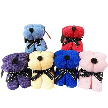 Toalla - TOOGOO(R)3 piezas de toallas pano de regalos de boda de decoracion - color al azar: Amazon.es: Hogar