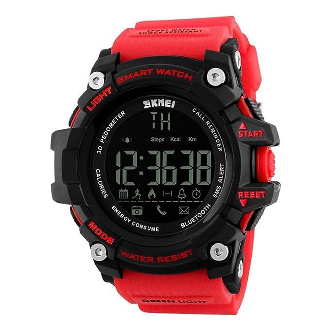 Reloj Inteligente Xinan Reloj Impermeable Bluetooth Resistente al Agua Phone Mate para teléfono Inteligente Deportivo con presión Arterial/Oxímetro y ...