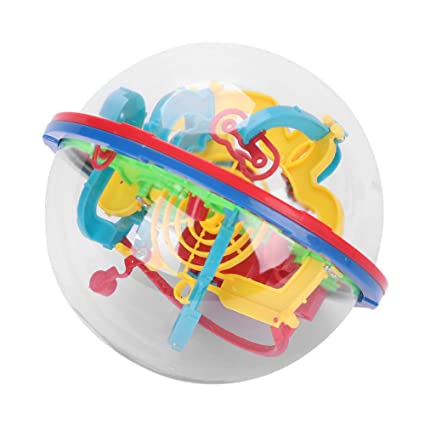 Home 3d Magic Intelligence Ball Educational Maze Cube Amazing Balance Toy For Kids Magic Rolling Globe Childrens Toys Birthday Gift