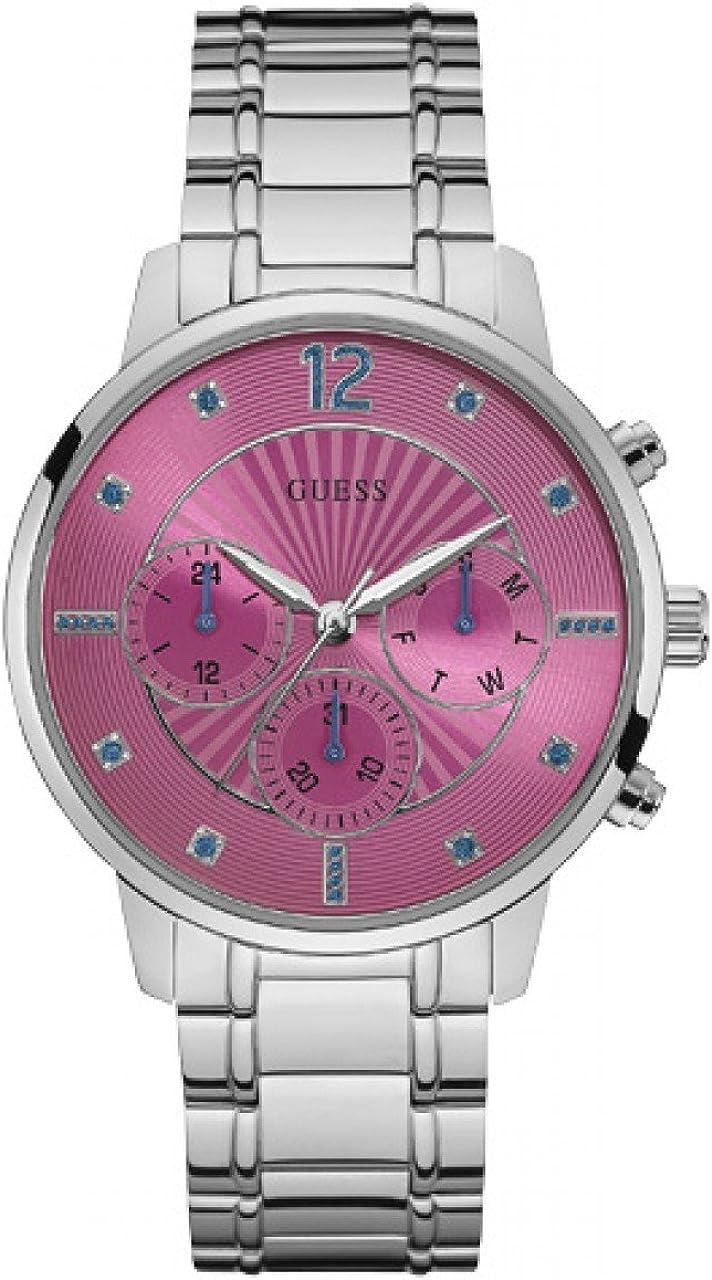 Guess Reloj Multiesfera para Mujer de Cuarzo con Correa en Acero Inoxidable W0941L3
