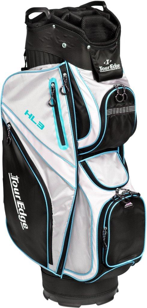 Tour Edge Men's HL3 Cart Bag, Black/Silver/Blue