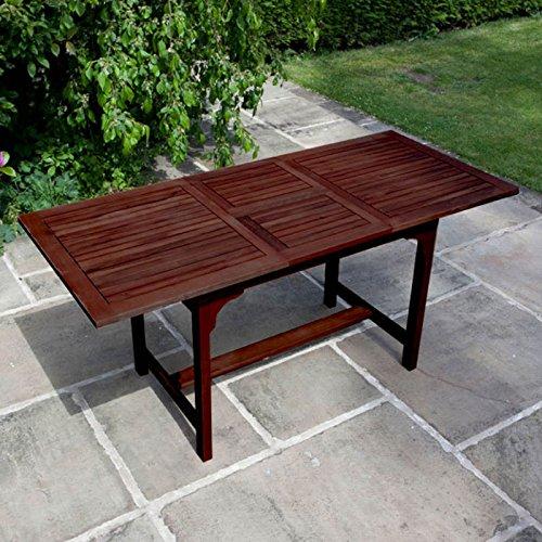 BillyOh Hampton 1.6m Extending Rectangular Hardwood Eucalyptus Wooden Dining Table 24263