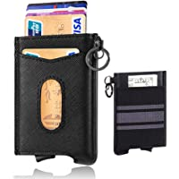 Vankey Slim RFID Blocking Genuine Leather Credit Card Holder/Wallet (Black)